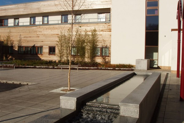Landscape architecture London Philip Cave hamlet hospital in northampton